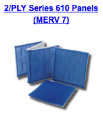 2 ply series 610 panels merv 7