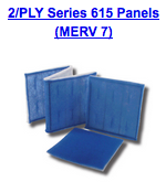 2 ply series 615 panels merv 7