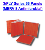 3 ply series 66 panels merv 8 antimicrobial