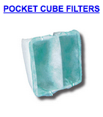 powder booth pocket cube filters