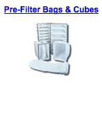 pre filter bags cubes